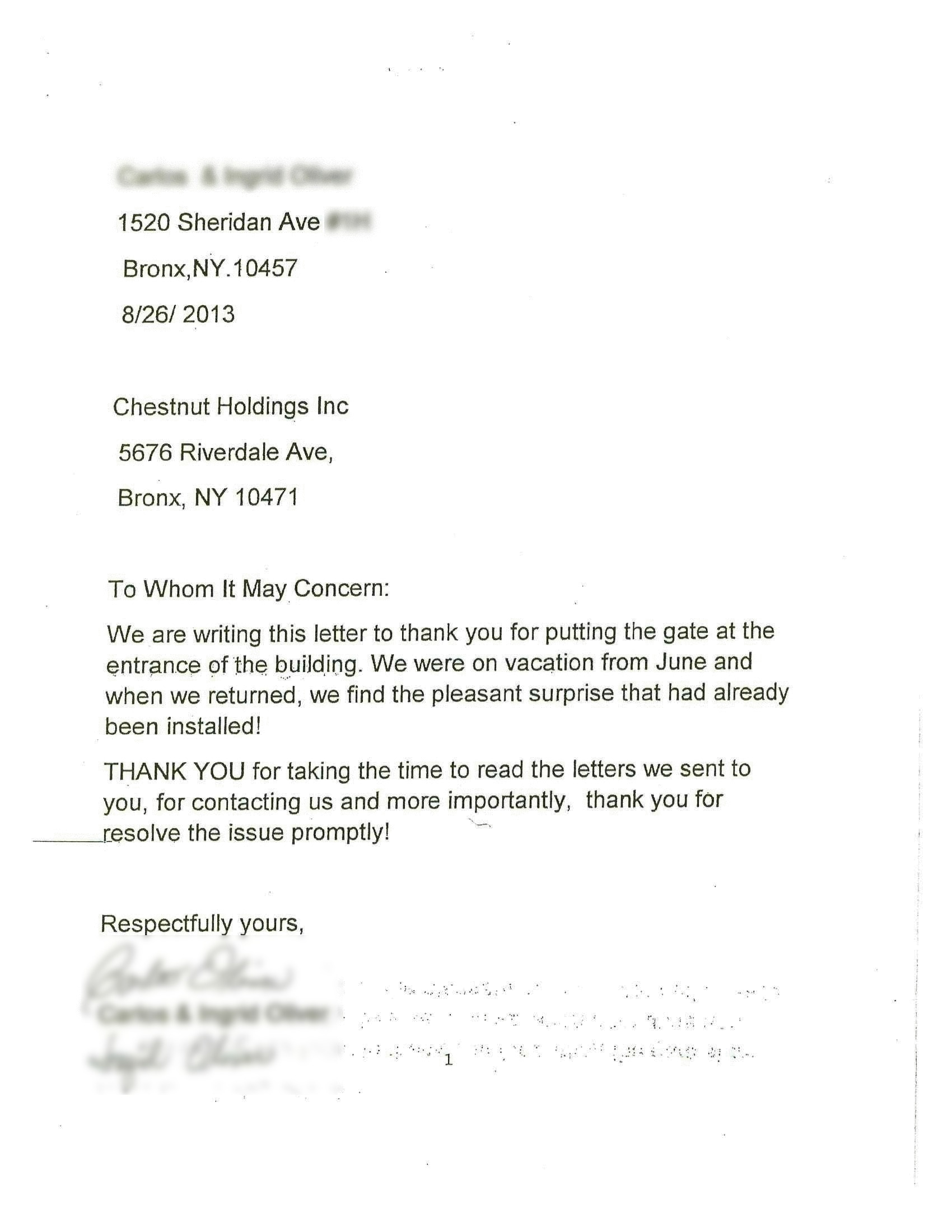Property Management Letter To Tenants About Parking from chestnutholdings.com